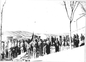 HU34781 British battalion parade at Mondejar